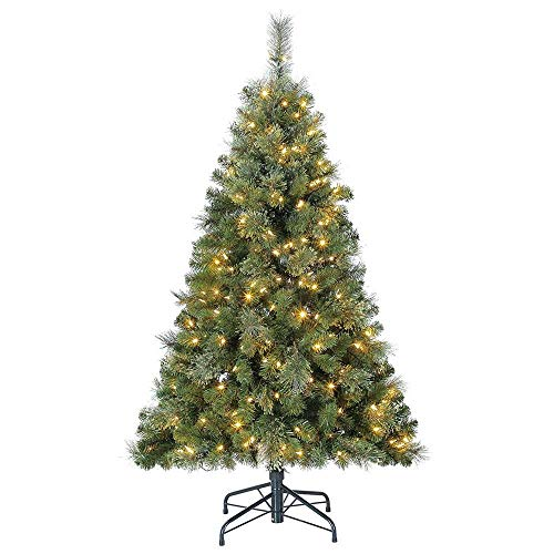 Home Heritage 5' Artificial Cascade Cashmere Christmas Tree w/Changing Lights
