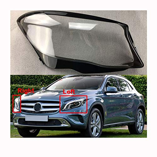 Cubierta de la lente del faro Filtro De Protección Del Coche De La Lámpara Pantalla Transparente Cubierta De La Linterna Fit For Mercedes-Benz W156 GLA 2015-2019 Cubierta Transparente Del Faro Cubiert