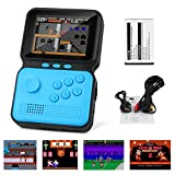 Maxjaa Handheld Game Console, Handheld Retro Game Console with 900 Classical Games, Portable Mini Handheld Games Console with 3in HD Screen & TV Video Output, 1200mAh Rechargeable Battery (Blue)