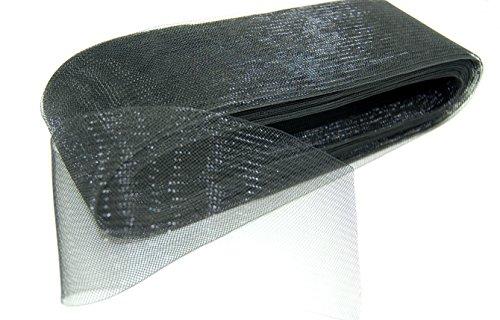 【Micopuella】 ホースヘア ソフトボーニング 社交ダンス ドレス スカート 裾 衣装 リメイク 材料 生地 (ブラック)