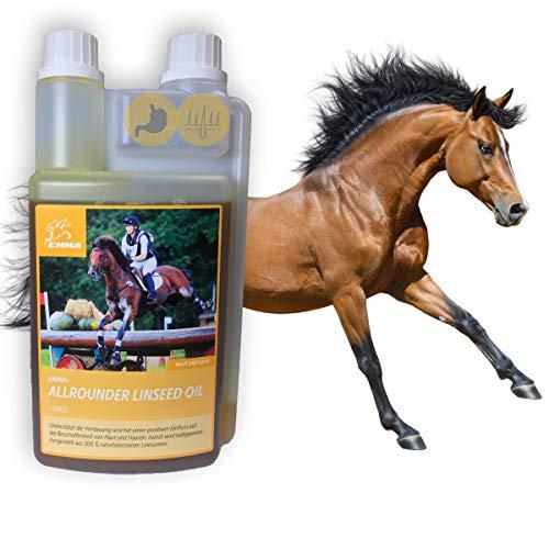 Huile de lin pour les chevaux, doublure supplémentaire pour fourrure de change, fourrure, crinière, Digestion, 1L