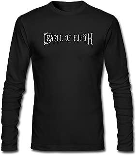 Hefeihe DIY Cradle of Filth COF Dani Filth Men's Long-Sleeve Fashion Casual Cotton T-Shirt