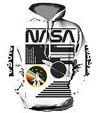 YTTde Sudadera unisex de manga larga con capucha y impresión digital en 3D, color blanco y negro, para deportes, uso diario, fiestas, regalos, XXXL
