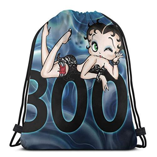 fgjfdjj Betty Boop Boo Mochila con cordón para...