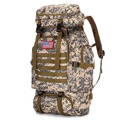 N2 70l Hiking Backpack for Men Waterproof Military Camping Rucksack Travel Daypack