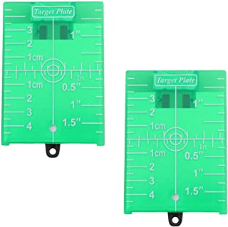 TINKSKY 2個グリーン磁気床ターゲットプレート床ターゲットプレートカードグリーンビームアプリケーション用スタンドと視認性を向上させるの緑の線や点