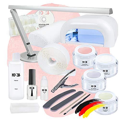 Nagelstudio Starter Set UV Studio für Gelnägel mit Elektronik + Gel Made in Germany und allem Zubehör