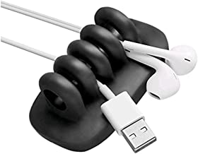 Black-Cable Clips-Cord Organizer with 4 Slots Cable Organizer Self Adhesive Cable Management Gift Ideas Men, Women, Dad, Mom