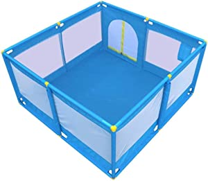 YLLSB-Baby fence Portable Child Activity Center Infant Play Fence With Door  color Blue-B  Size 128x128x66cm  Blue-b 128x128x66cm  Color Blue-a  Size 128x128x66cm