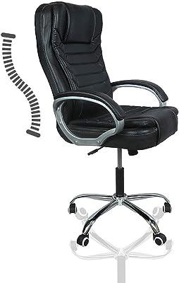 TCSS T5 High Back Revolving Leatherette Office Chair - Matte Black