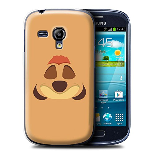 Hülle Für Samsung Galaxy S3 Mini Karikatur Afrikanische Tiere Timone Inspiriert Design Transparent Ultra Dünn Klar Hart Schutz Handyhülle Case