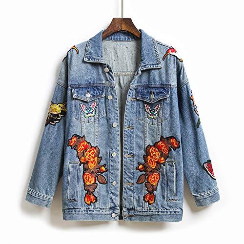 NZJK Mode Frühjahr Und Herbst Bestickte Jeansjacke Damen Short Long Sleeve Short Jacket Joker Jacket Top