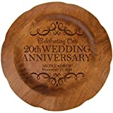 LifeSong Milestones Personalized 20th Wedding Anniversary Plate Gift for Her, Happy 20 Year Anniversary for...