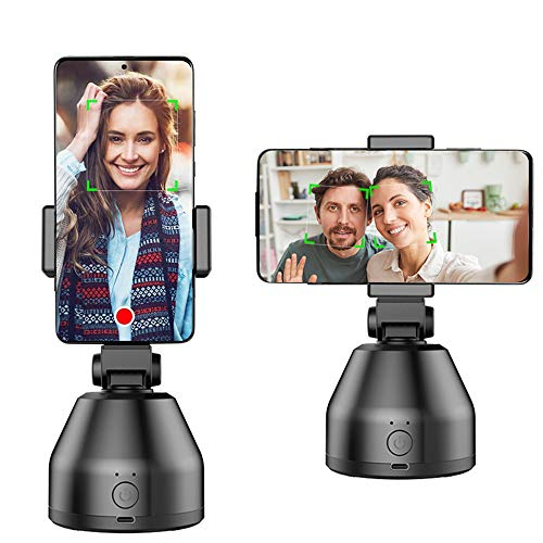 Smart Portable Selfie Stick,360°Rotation Auto Face Object Tracking Camera Tripod Holder Smart Shooting Cell Phone Camera Mount, Vlog Shooting Smartphone Mount Holder for All iPhone Android Phone