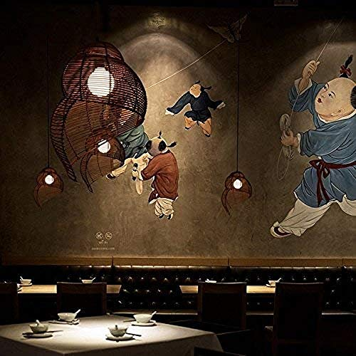 Arañas Duraderas Creativas Ratán Colgante Luces Hechas A Mano Lámpara De Restaurante Bar Club Cafe Chandelier Japonés Simple Estilo Salón Habitación Dormitorio Comedor Cuarto De Comedor Lámparas Colga