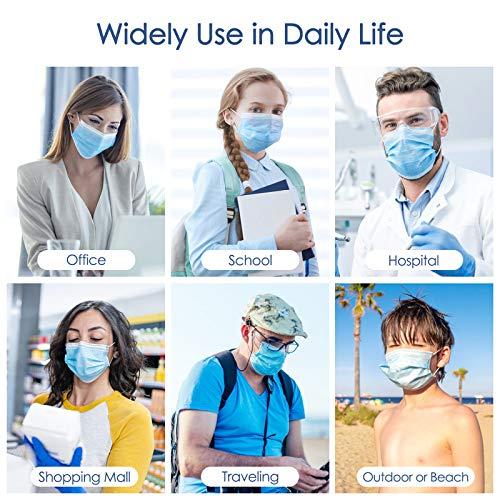 50 Stück Atemschutzmasken 3 lagige Einwegmasken IDOIT, Gesichtsmaske mit Ohrschlaufen, Atmungsaktive Ohrmuschel-Gesichtsmaske,3 Schichten Masken - 4