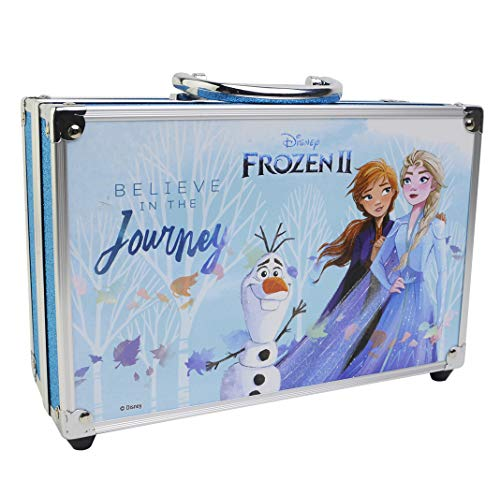 Frozen II in Time Beauty Travel X6 - Maletín de Maquillaje - Set de Maquillaje para Niñas - Maquillaje Frozen - Neceser Maquillaje y Accesorios en un Maletín Reutilizable con Espejo