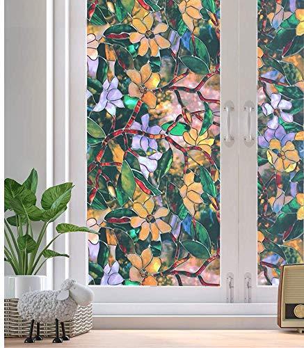 Vinilo adhesivo para ventana de privacidad con encaje decorativo estático autoadhesivo para el hogar y la oficina, c, 60 x 100 cm