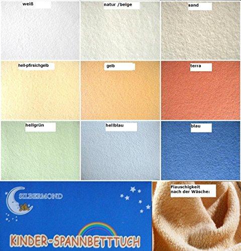 HAHN Teddyflausch-Spannbettlaken für Kinderbett, 70x140 cm, beige / natur