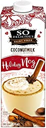 So Delicious Dairy-Free Coconutmilk Seasonal Beverage, Holiday Nog, 32 Ounce Plant-Based Vegan Dairy