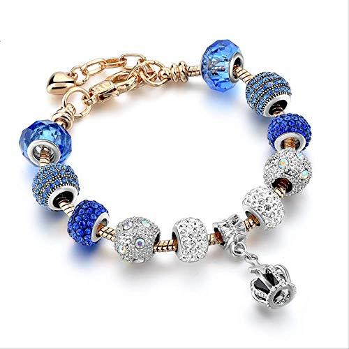 nobrand Gold Charm Herz mit Strass Armband für Frauen DIY Friendship Bracelets Armreifen