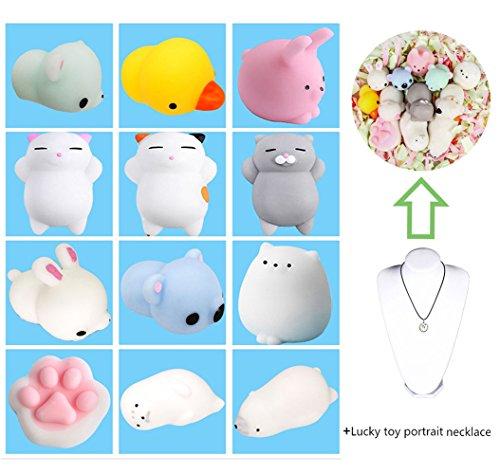 12 Stück Nette Katze Squishy Anti Stress Squishy Langsam Rising Spielzeug Squeeze Spielzeug Stress...