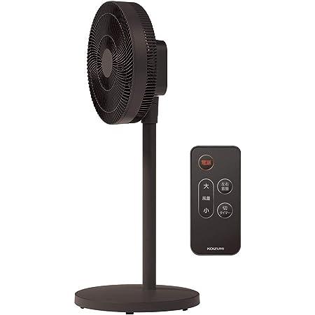 コイズミ 扇風機 DCモーター リモコン付き 風量8段階 首振り オフタイマー付き ブラック KLF-3003/K
