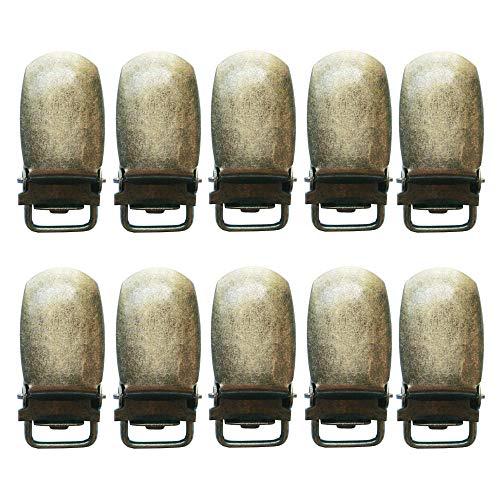 1 cm strapazierfähige Metall-Hosenträger-Clips, Lätzchen, Schnuller, Hosenträger, Spielzeug, Fäustlinge, Gallus Klemme, 10 Stück - - 1 cm