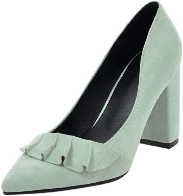 Unm Women's Slip on Heels shoes Heels Green
