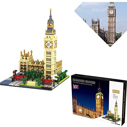 LSJZZ Nano Blocks Big Ben Landmark 1600+Pcs Nano Mini Building Blocks Kits Child Construction Educational DIY Toy Gifts