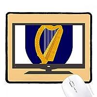 アイルランドはヨーロッパの国家エンブレム マウスパッド・ノンスリップゴムパッドのゲーム事務所