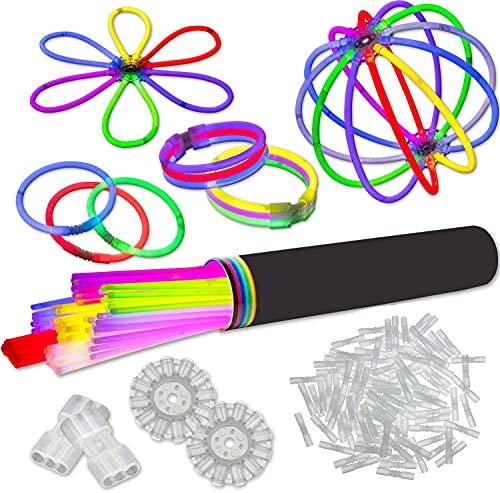 500 Arm Knicklichter 7 Farbmix | inkl. 500x TopFlex | 10x Dreifach | 10x Ball Verbinder | Premiumqualität