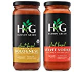 Plant-Based Pasta Sauce Variety Pack by Hudson Green | Velvet Vodka and Organic Meatless Bolognese |...