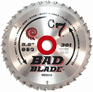 KwikTool USA BB5510 C7 Bad Blade 5-1/2-Inch 36 Tooth With 10mm Arbor