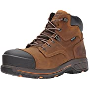 """Timberland PRO Men's Helix HD 6"""" Composite Toe Waterproof Industrial & Construction Shoe, Distressed Brown Full Grain Leather, 10.5 M US"""