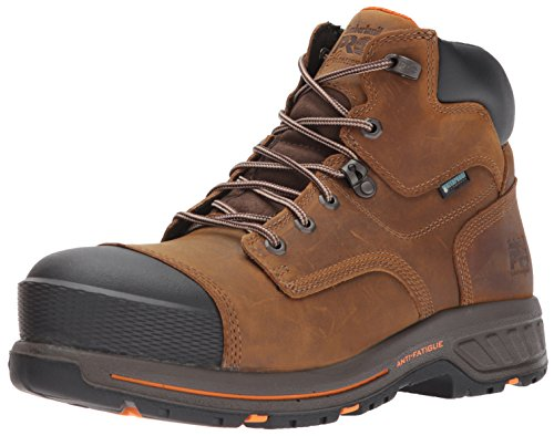 Timberland PRO Men's Helix HD 6' Composite Toe Waterproof Industrial & Construction Shoe, Distressed Brown Full Grain Leather, 10.5 M US
