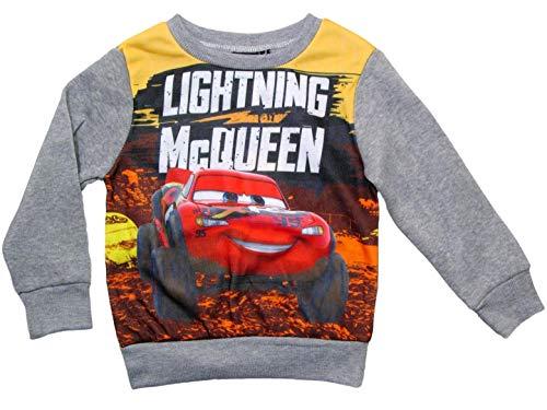 Cars 3 Hoodie Jungen Pullover Disney Lightning McQueen (Grau, 122-128)