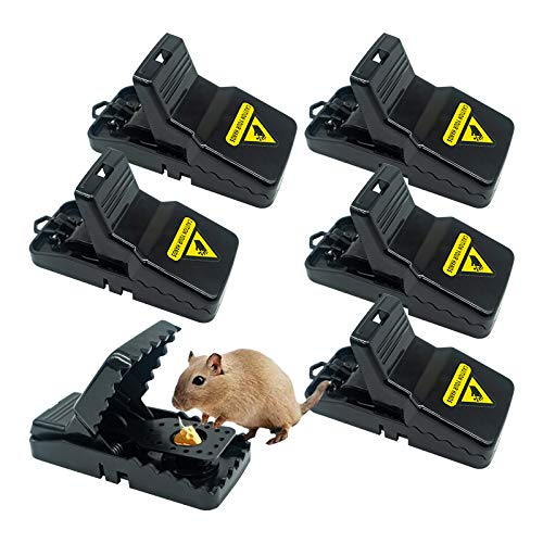 HOMEREVEL- Reusable Mouse Trap, 6 Pack Mouse Traps for Indoors and Outdoors That Kill Instantly, Quick, Effective and Highly Sensitive Rodent Catcher