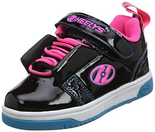 Heelys Mädchen Rift X2 Sneaker, Schwarz (Black/Neon Pink/Cyan Black/Neon Pink/Cyan), 34 EU