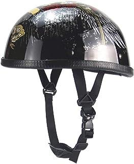 良いおすすめオートバイハーフヘルメットオープンフェイスヘルメットハーフシー..と2021のレビュー