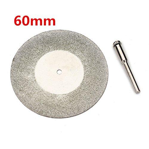 EsportsMJJ 60mm diamant slijpen wiel metaal snijden schijf voor Dremel roterende gereedschap met 1 Arbor as