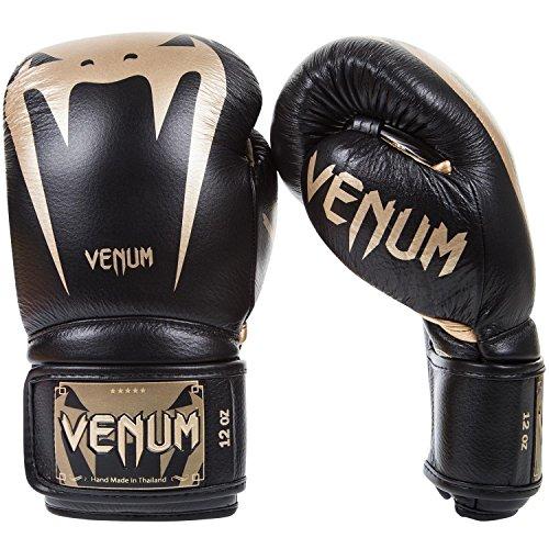 Venum Giant 3.0 Boxhandschuhe Muay Thai, Kickboxing, Schwarz / Gold, 16 oz