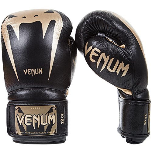 Venum Giant 3.0 Boxhandschuhe Muay Thai, Kickboxing, Schwarz / Gold, 10 oz