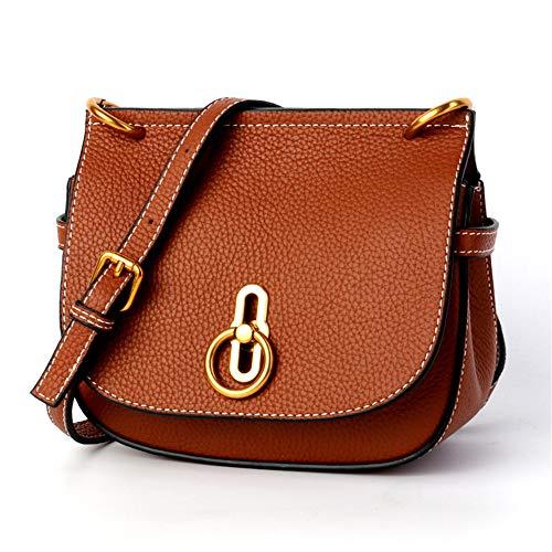 LEIAZ Neues Trendquadrat-Paket Wilde Kurierkettentasche Mode-Roman-Tofu-Tasche Retro Kleine Quadratische Tasche,Brown