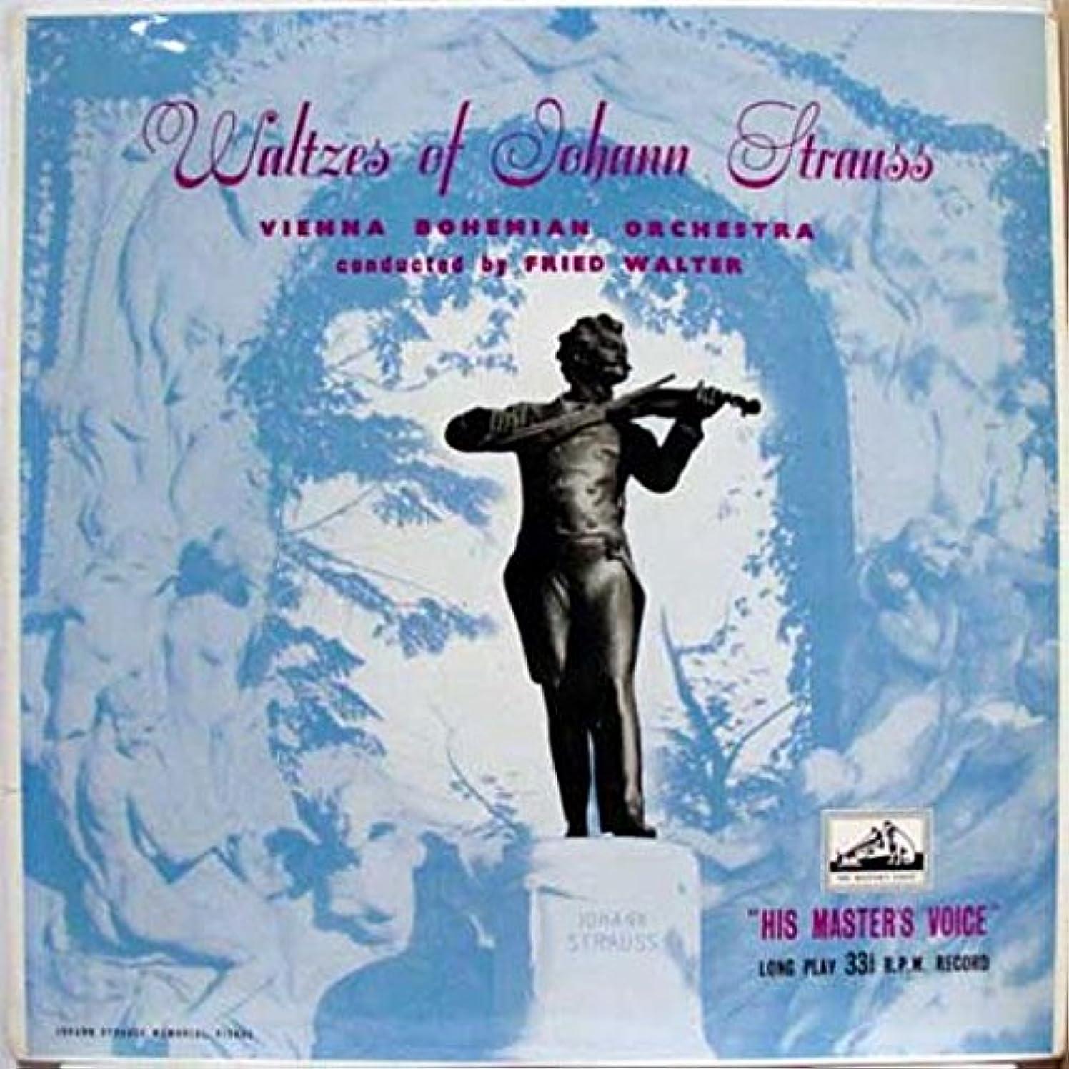 FRIED WALTER VIENNA BOHEMIAN ORCHESTRA WALTZES OF JOHAN STRAUSS vinyl record