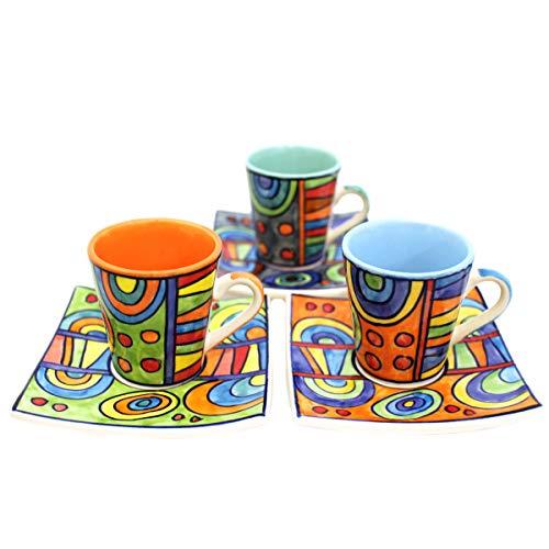Gall&Zick Espressotasse mit Untertasse - Keramik - Set/3 - Handbemalt