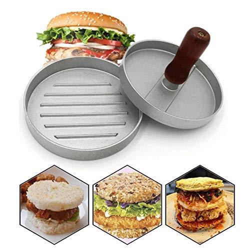 Gsyamh Prensa para Hamburguesas Carne Aleación De Aluminio Kit para Hacer Hamburguesa Rellenas Antiadherentes Prensa Carne Hamburguesas Adecuado para Hacer Relleno Carne Hamburguesa, Operación Simple