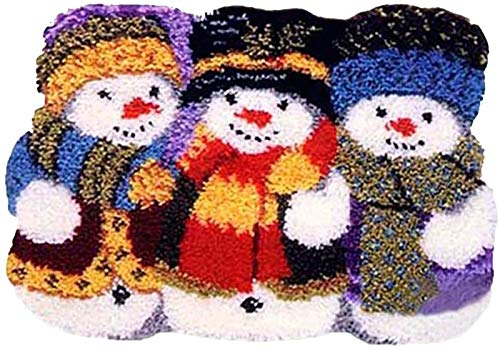 QAZWSX Crochet Kit Latch Hook Kit, DIY Christmas Häkelnde Teppich Anfänger, Teppiche Kits for Erwachsene 52 × 40 cm handgefertigt (Color : A)