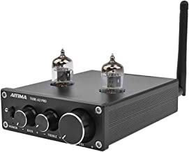 AIYIMA Audio 6J1 Tube Preamplifier Bluetooth 5.0 HiFi Treble & Bass Adjustment Audio Preamplifier DC12V Amplifier Preamp NE5532P Chips for Home Theater System(Black+BT 5.0)