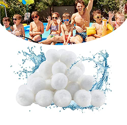 Huifengjie Bolas de Filtro - Bolas Filtrantes ecológicas y duraderas - 700g Filter Balls Puede reemplazar Arena de Filtro de 25 kg, para Sistemas de Filtro de Arena y filtros de Agua
